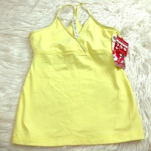Lululemon yellow tank top sequence size 8